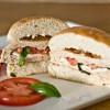 Caprese Stuffed Chicken Burgers