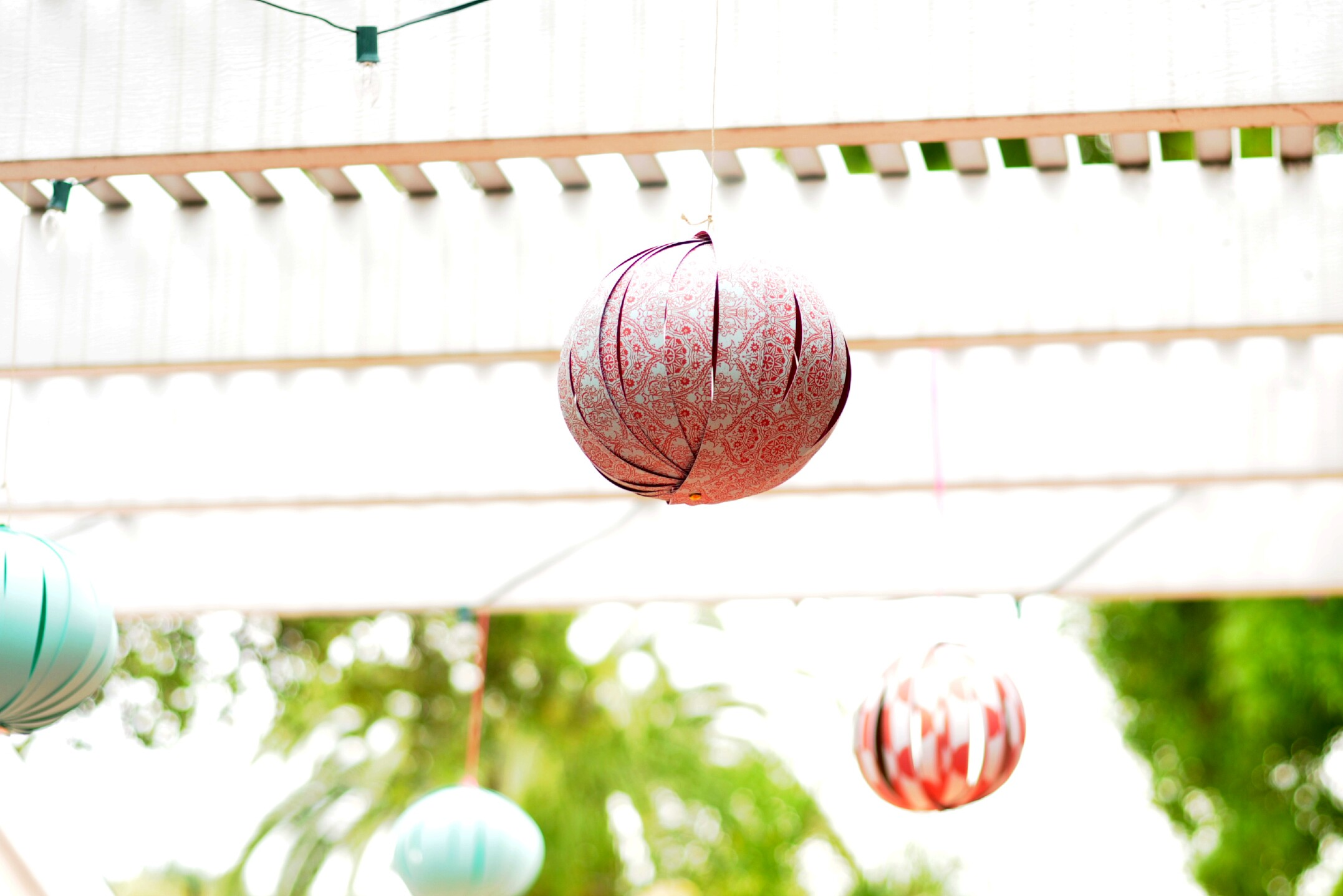 Homemade paper lanterns