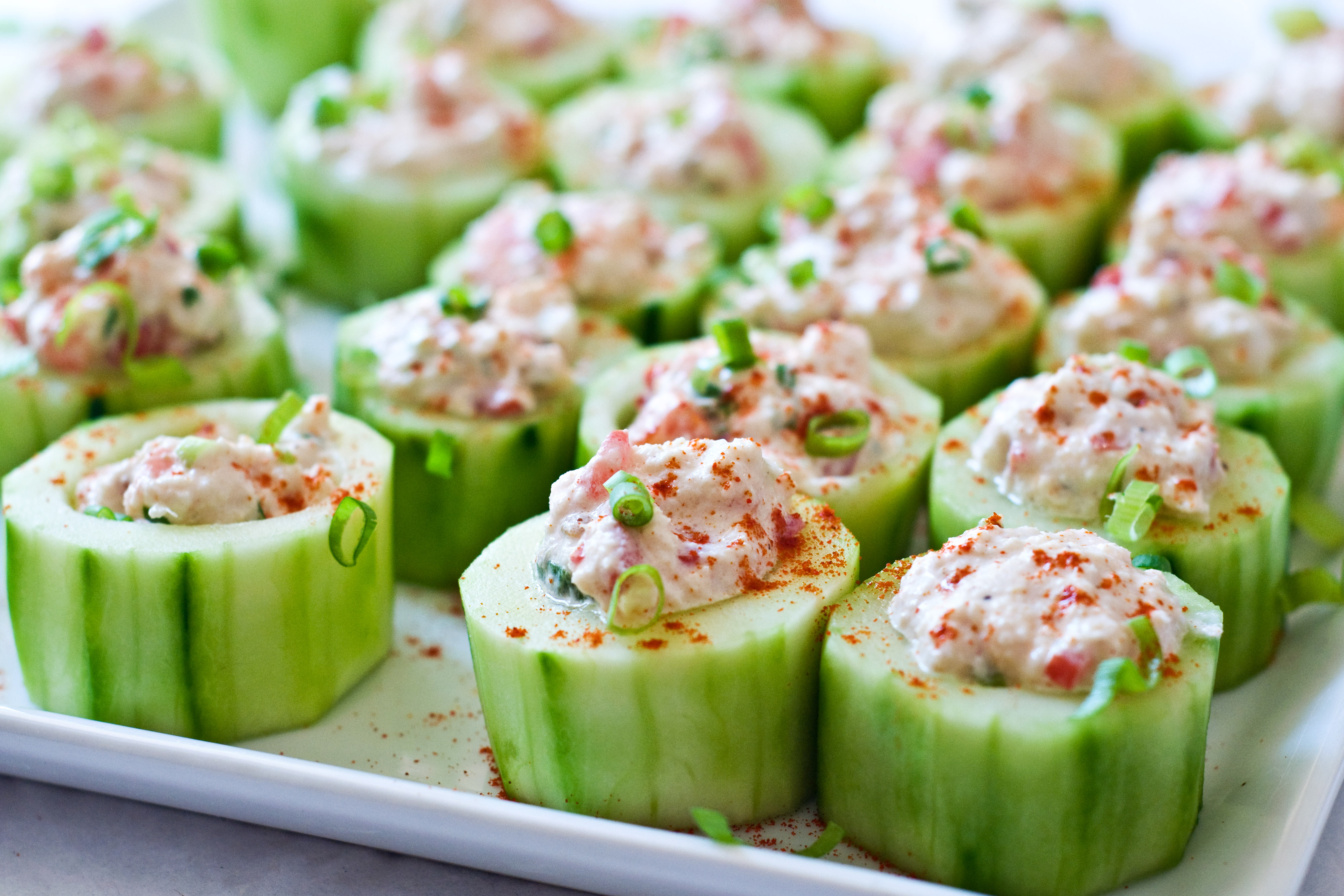 Cucumber cups stuffed with spicy crab domestic fits cucumber cups stuffed with spicy crab solutioingenieria Images