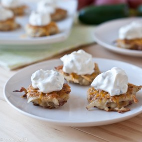 Cheesey Potato Pancakes with Jalapeno Sour Cream2