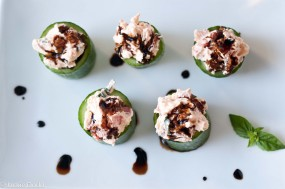 Cucumber Cups With Goat Cheese Caprese2