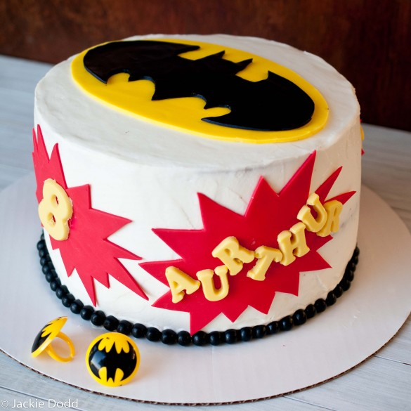 Super Simple Batman Cake with Free Printable Templates