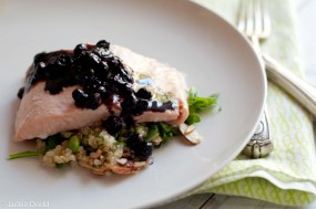 Oven Steamed Salmon With Balsamic Blueberries2