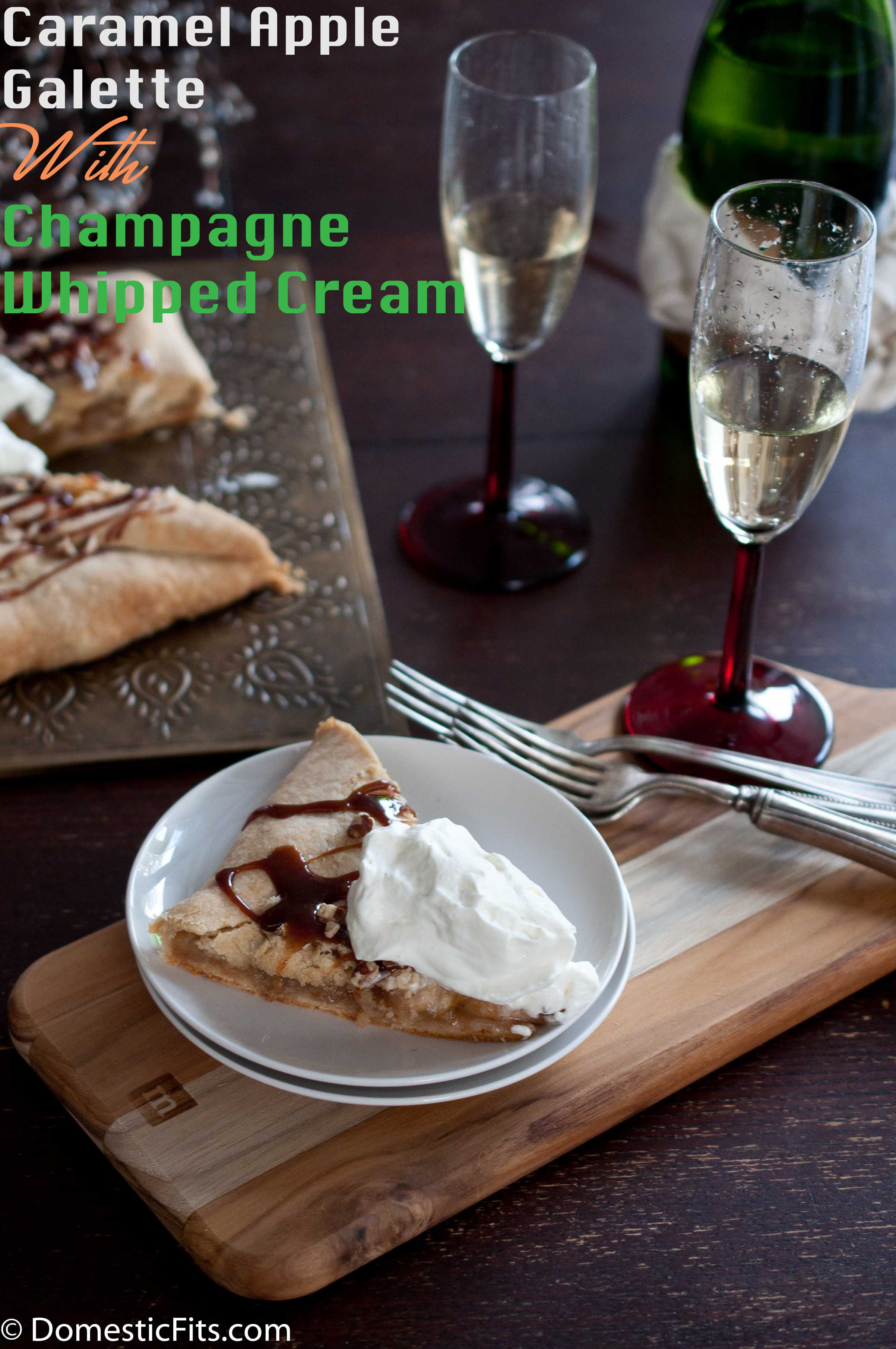Caramel Apple Galette With Champagne Whipped Cream2p
