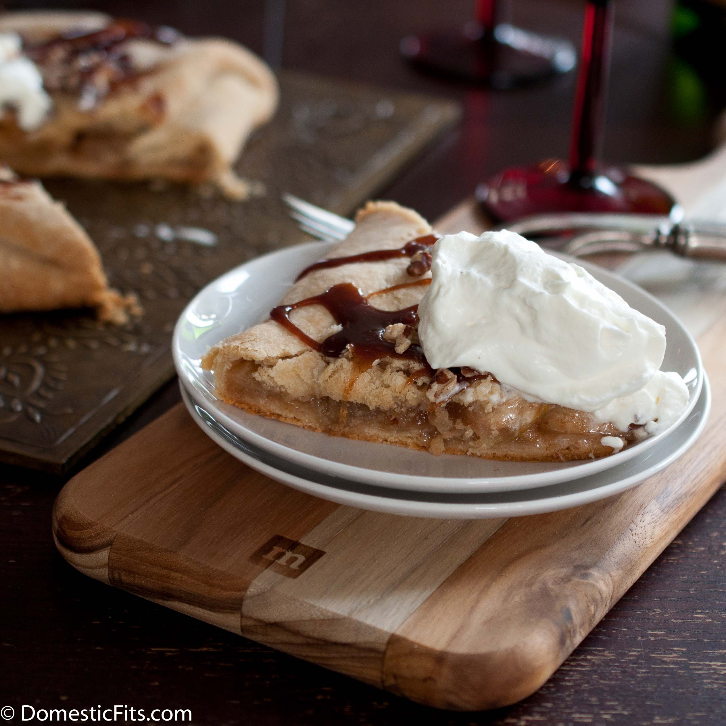 Caramel Apple Galette With Champagne Whipped Cream3