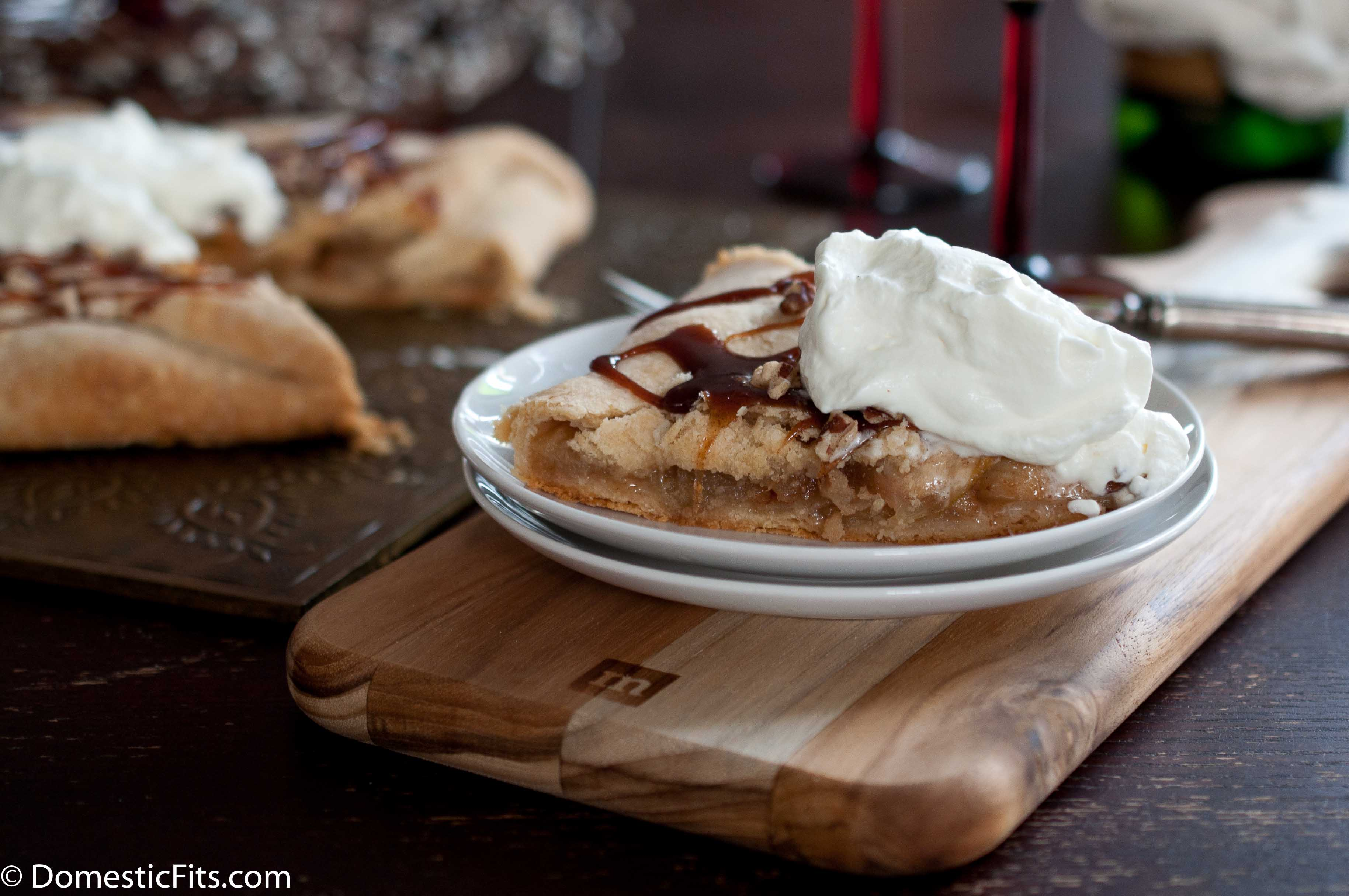 Caramel Apple Galette With Champagne Whipped Cream4