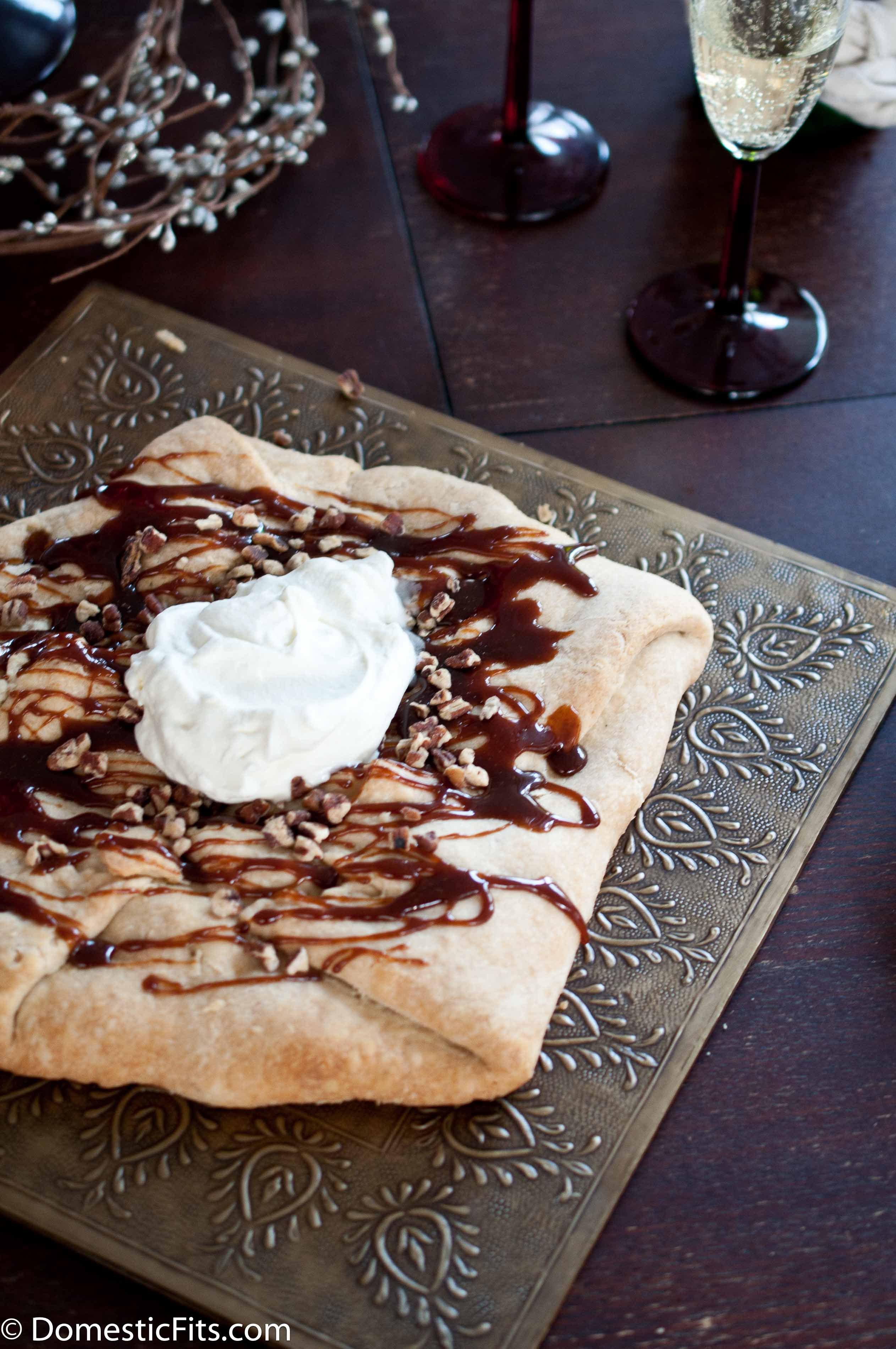 Caramel Apple Galette With Champagne Whipped Cream6