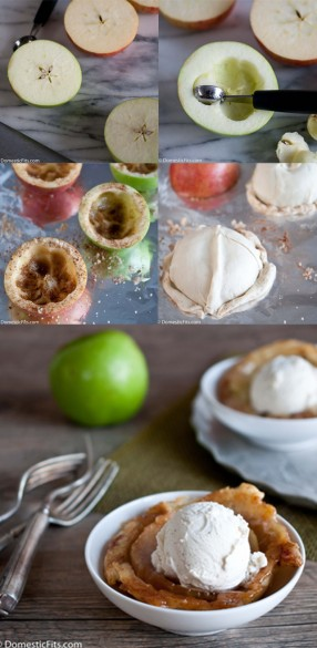 Baked Apple Pie Ice Cream Bowls