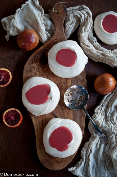 Miniature Pavlovas with Blood Orange Curd2