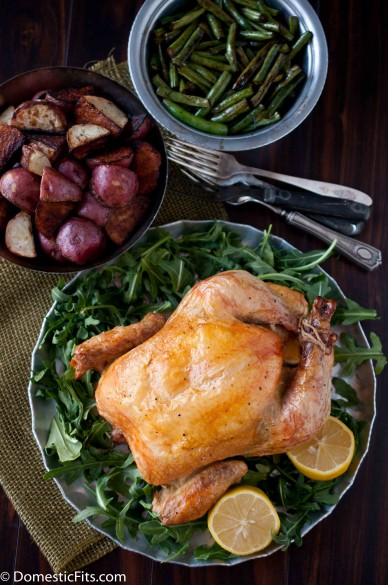 Cheap Eats: Roast Chicken, Potatoes, Green Beans feed 4 for $10 (with leftovers!)