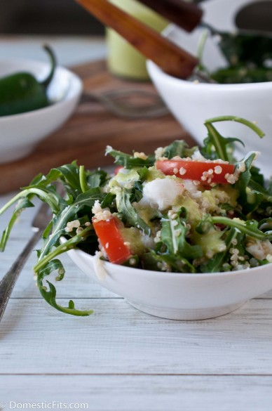 Quinoa Crab Salad with Jalapeno vinaigrette
