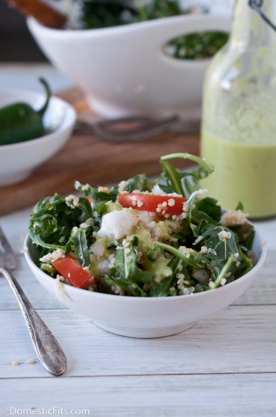 Quinoa Crab Salad with Jalapeno vinaigrette2