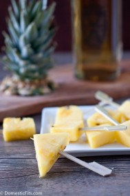 Rum Soaked Pineapple Pops