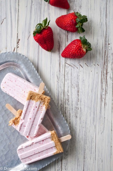 Strawberry Cheesecake Popsicles 6