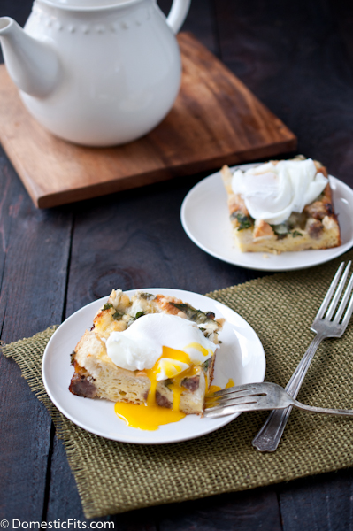 Spinach and Sausage Breakfast Casserole with Poached Eggs3