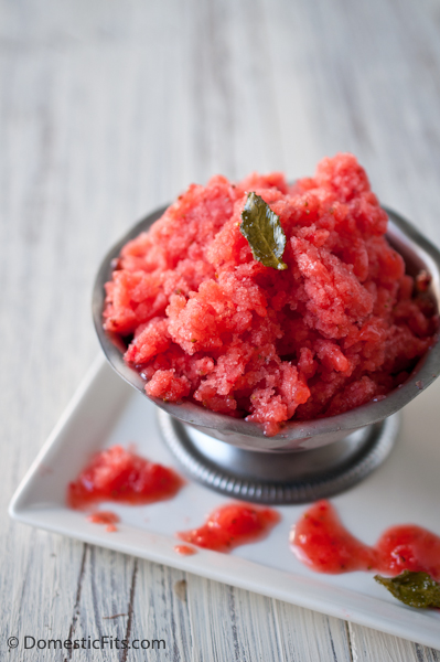 Strawberry Granita with Candied Mint 2