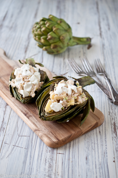 Grilled Artichokes with Crab Filling2