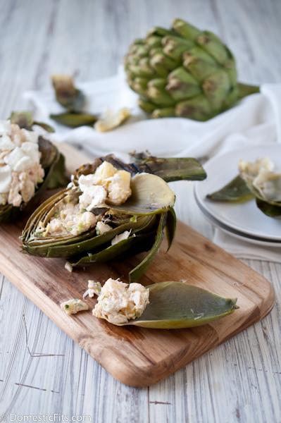 Grilled Artichokes with Crab Filling3