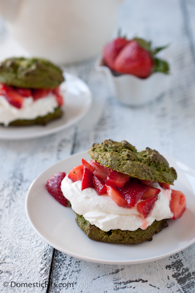 Matcha Strawberry Shortcakes with Lime Whipped Cream #CAStrawberryShortcakes