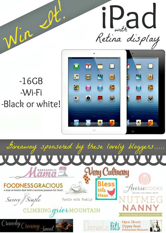 Enter to win an iPad!