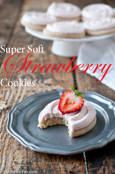 Super Soft Strawberry Sugar Cookies P