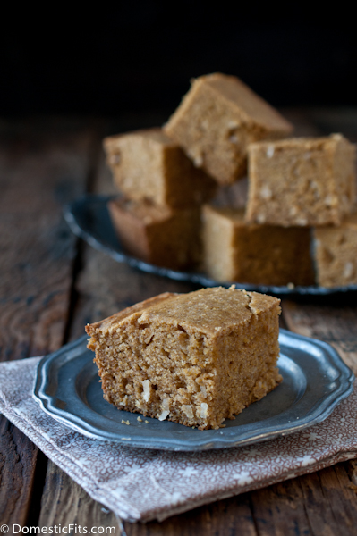 Jamacian Coconut Cornbread naturally dairy and gluten free