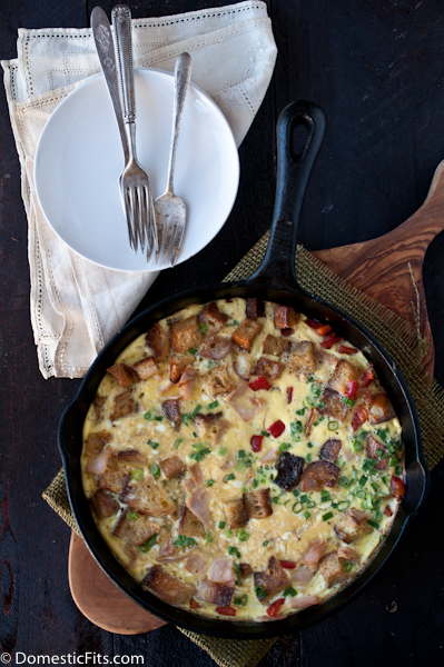 Leftover Turkey Frittata Recipe