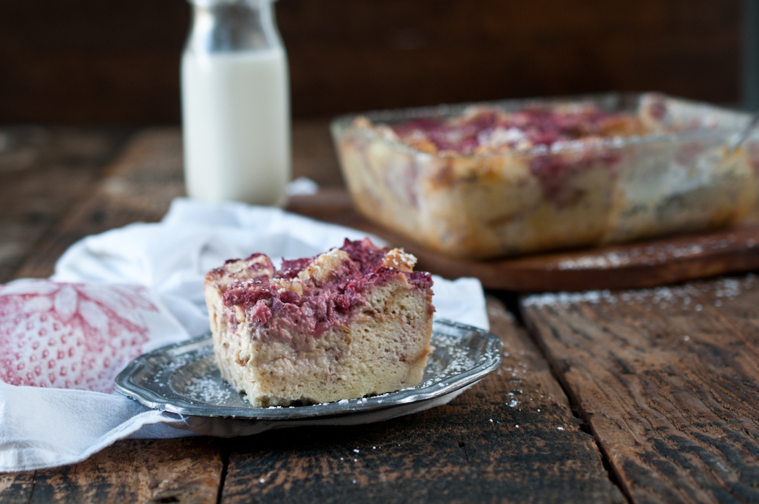 Strawberries and cream breakfast casserole