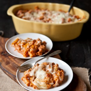 Cream Cheese Sausage Baked Ziti- Perfect Make and Take Meal!