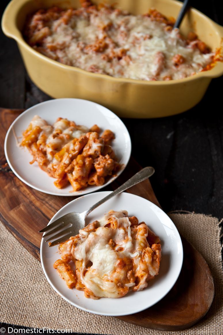 Cream Cheese Sausage Baked Ziti- Perfect Make and Take Meal!-2