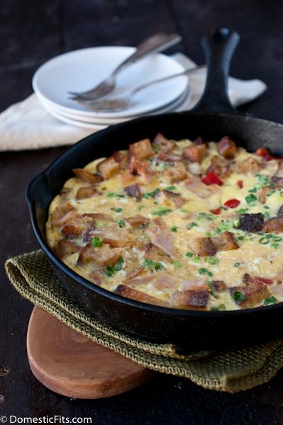 Leftover Turkey Frittata Recipe2
